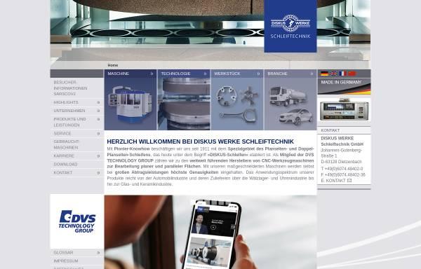 Vorschau von www.diskus-werke.de, Diskus Werke Schleiftechnik GmbH
