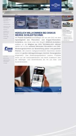 Vorschau der mobilen Webseite www.diskus-werke.de, Diskus Werke Schleiftechnik GmbH