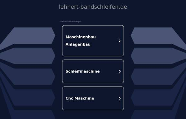 Vorschau von www.lehnert-bandschleifen.de, H. Lehnert Maschinenfabrik GmbH