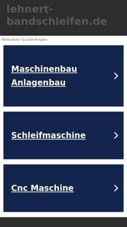 Vorschau der mobilen Webseite www.lehnert-bandschleifen.de, H. Lehnert Maschinenfabrik GmbH