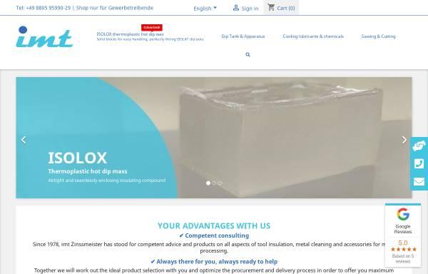 Vorschau von www.imt-zinssmeister.de, IMT International Machinery Trading, Inh. Karl Zinssmeister