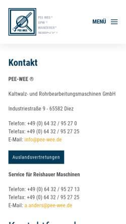 Vorschau der mobilen Webseite www.m-diel.de, Industrieberatung M. Diel