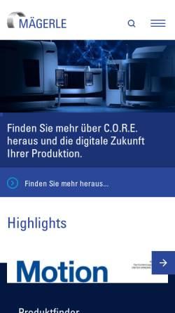 Vorschau der mobilen Webseite www.maegerle.com, Mägerle AG Maschinenfabrik