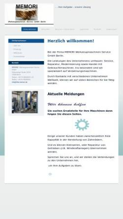 Vorschau der mobilen Webseite www.ritter-memori.de, MEMORI Werkzeugmaschinen Service GmbH