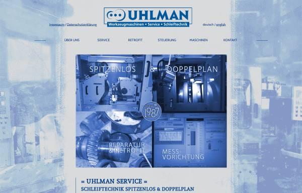 Vorschau von www.uhlman.de, Ralf Uhlman Werkzeugmaschinen