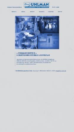Vorschau der mobilen Webseite www.uhlman.de, Ralf Uhlman Werkzeugmaschinen