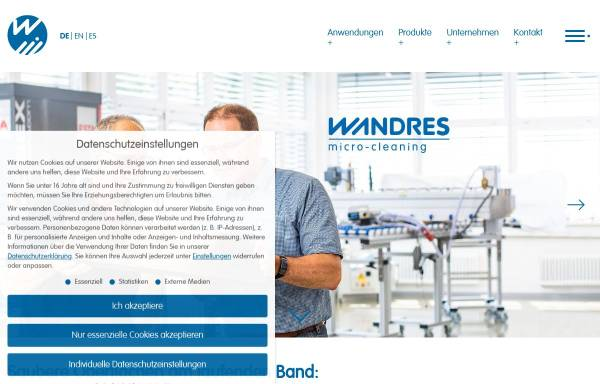 Vorschau von wandres.com, Wandres GmbH