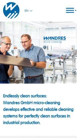 Vorschau der mobilen Webseite wandres.com, Wandres GmbH