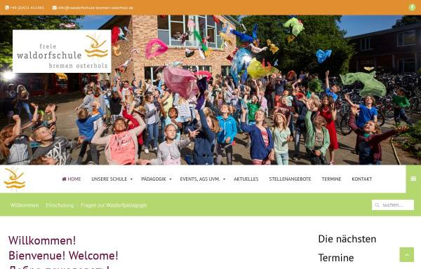 Vorschau von www.waldorfschule-bremen-osterholz.de, Freie Waldorfschule Bremen Osterholz