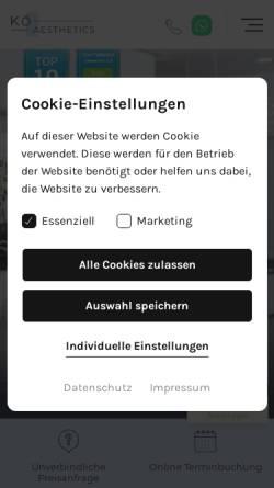 Vorschau der mobilen Webseite www.koe-aesthetics.de, KÖ–Aesthetics