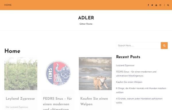 Vorschau von www.adler-gitterroste.de, Wilhelm Woeste Nachfolger GmbH & Co. KG