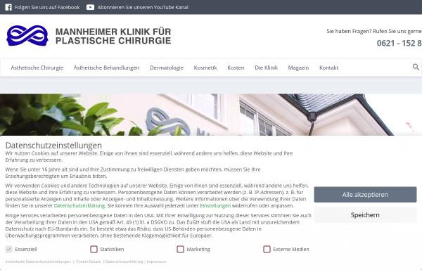 Vorschau von www.beautyclinic.de, Mannheimer Klinik für Plastische Chirurgie