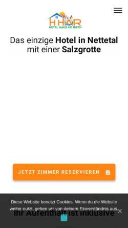 Vorschau der mobilen Webseite www.hhar.de, Hotel Haus Am Rieth
