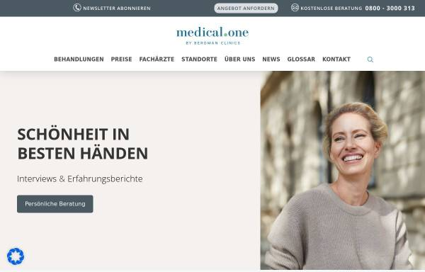 Vorschau von www.medical-one.de, Medical One AG