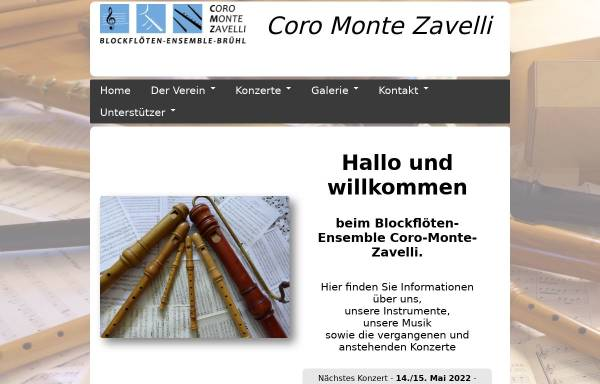 Vorschau von www.coro-monte-zavelli.de, Coro Monte Zavelli, Brühl