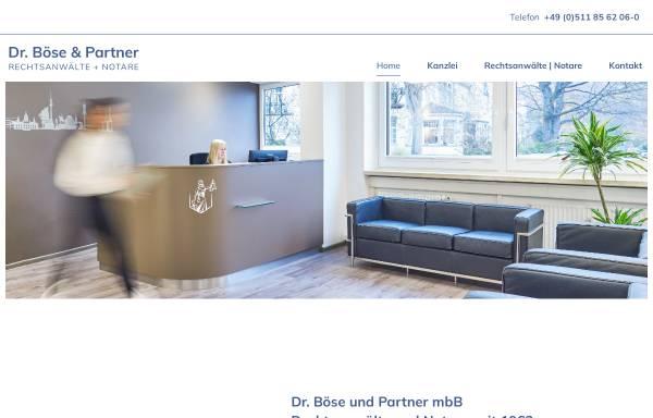 Vorschau von www.raboese.de, Dr. Böse, Senholdt, Lükermann & Böse