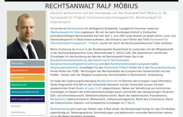 Vorschau von www.rechtsanwaltmoebius.de, Rechtsanwalt Ralf Möbius