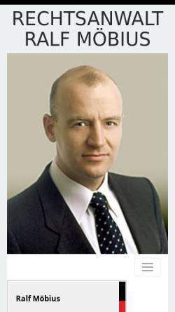 Vorschau der mobilen Webseite www.rechtsanwaltmoebius.de, Rechtsanwalt Ralf Möbius