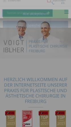 Vorschau der mobilen Webseite plastische-chirurgie-in-freiburg.de, Praxis für Plastische Chirurgie Freiburg