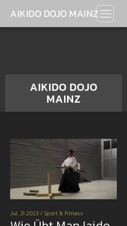 Vorschau der mobilen Webseite www.aiki-dojo-mainz.de, Aiki Dojo Mainz