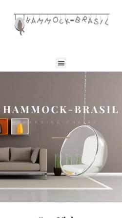 Vorschau der mobilen Webseite www.hammock-brasil.com, Hammock-Brasil - Lignum B. u. T. Trade Handels GesmbH.