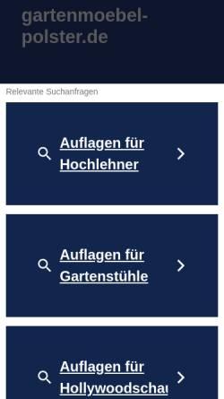 Vorschau der mobilen Webseite www.gartenmoebel-polster.de, Krause Grosshandel GbR