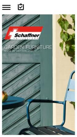 Vorschau der mobilen Webseite www.schaffner-ag.ch, Schaffner AG