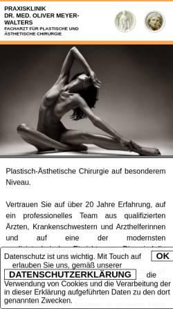 Vorschau der mobilen Webseite www.plastischer-chirurg-hamburg.de, Praxisklinik für Plastische und Ästhetische Chirurgie