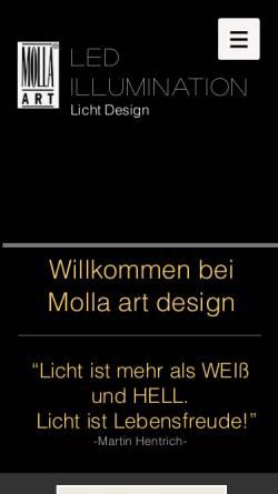 Vorschau der mobilen Webseite www.molla-art.de, Molla Art, Martin Hentrich