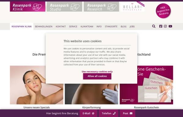 Vorschau von www.rosenparkklinik.de, Rosenparkklinik GmbH