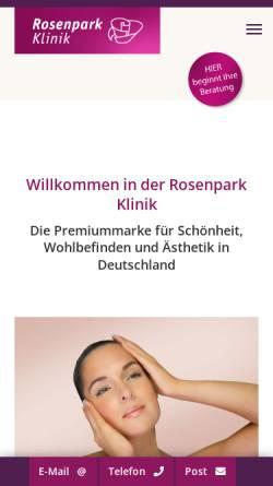 Vorschau der mobilen Webseite www.rosenparkklinik.de, Rosenparkklinik GmbH
