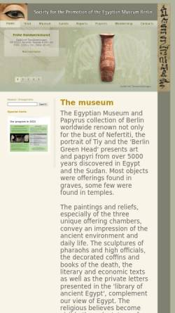 Vorschau der mobilen Webseite www.egyptian-museum-berlin.com, Ägyptisches Museum Berlin