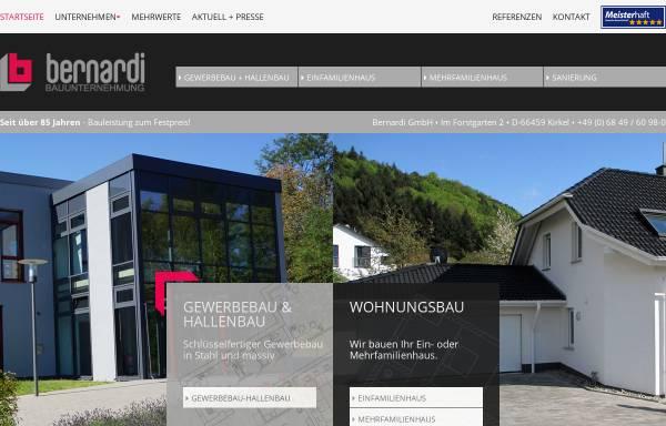 Vorschau von www.bernardi-gmbh.de, Bernardi GmbH Bauunternehmung