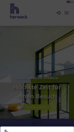 Vorschau der mobilen Webseite www.herweck.de, Herweck AG