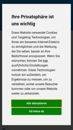 Vorschau der mobilen Webseite www.praktiker.de, Praktiker Bau- und Heimwerkermärkte AG