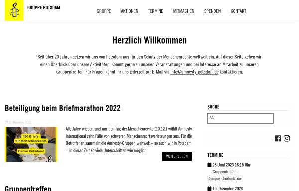 Vorschau von amnesty-potsdam.de, Amnesty international Potsdam-Gruppe 1391