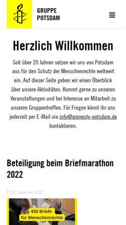 Vorschau der mobilen Webseite amnesty-potsdam.de, Amnesty international Potsdam-Gruppe 1391