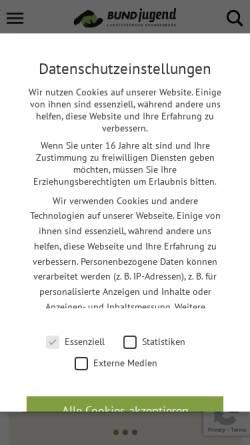 Vorschau der mobilen Webseite bundjugend-brandenburg.de, BUNDjugend Brandenburg