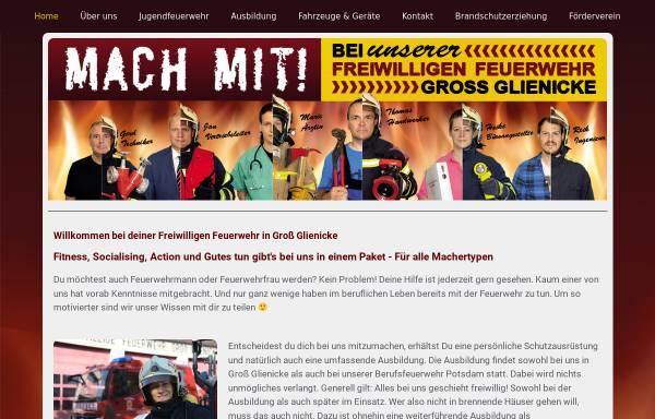 Vorschau von www.feuerwehr-grossglienicke.de, Freiwillige Feuerwehr Groß Glienicke