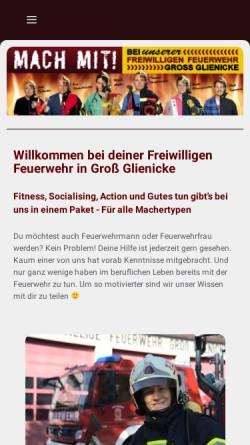 Vorschau der mobilen Webseite www.feuerwehr-grossglienicke.de, Freiwillige Feuerwehr Groß Glienicke