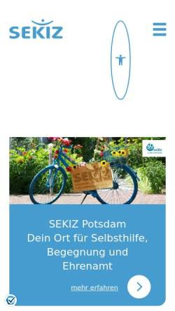 Vorschau der mobilen Webseite www.sekiz.de, SEKIZ e.V.