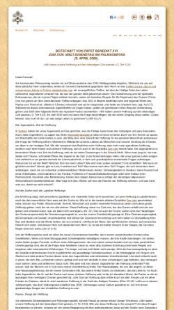 Vorschau der mobilen Webseite www.vatican.va, Botschaft von Papst Benedikt XVI. zum XXIV. Weltjugendtag