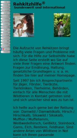 Vorschau der mobilen Webseite www.rehkitzhilfe.de, Rehkitzhilfe