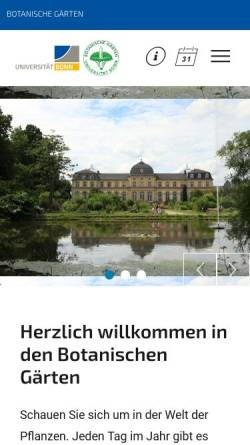 Vorschau der mobilen Webseite www.botgart.uni-bonn.de, Bonn