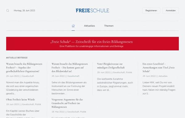Vorschau von www.freie-schule.de, Aktion mündige Schule e.V.