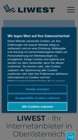 Vorschau der mobilen Webseite members.liwest.at, IhreFinanzen.com