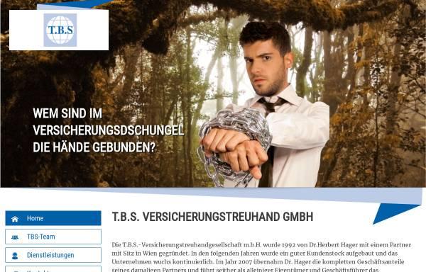 Vorschau von www.tbs-versicherungstreuhand.at, T.B.S - Finanzdienstleiter und Versicherungstreuhand