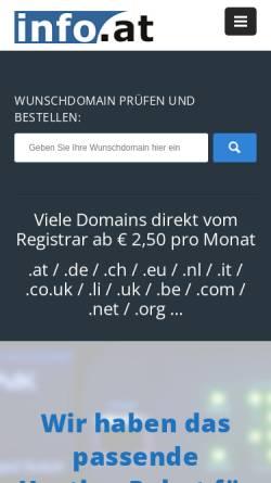 Vorschau der mobilen Webseite www.anlageberater.at, Verzeichnis für Anlageberater in Österreich by Info.at Internet GmbH & Co KEG