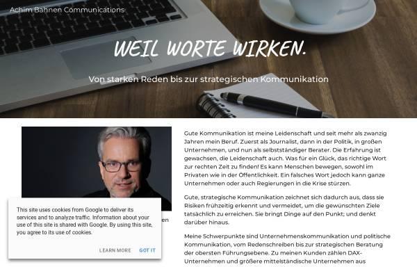 Vorschau von www.acba.de, Bahnen, Achim