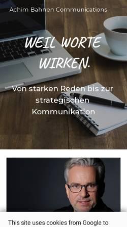 Vorschau der mobilen Webseite www.acba.de, Bahnen, Achim